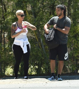 Amber Rose Hikes With a Personal Trainor